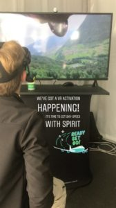 Base jumping Virtual Reality at Spirit's Marquee.